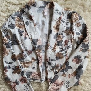 Xhilaration Women's Floral Blazer